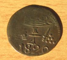 Colombie - Monnaie 1/4 De Real Santa Marta 1820 - Colombie
