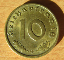 Allemagne / IIIe Reich - Monnaie 10 Reichspfennig 1939 G - 10 Reichspfennig