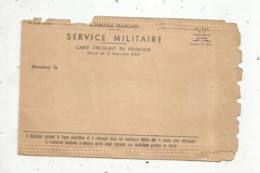 CARTE CIRCULANT EN FRANCHISE ,  SERVICE MILITAIRE , Décret Du 21 Sptembre 1923, Vierge ,  2 Scans - Tarjetas De Franquicia Militare