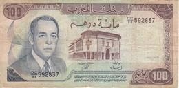 BILLETE DE MARRUECOS DE 100 DIRHAMS DEL  AÑO 1985  (BANKNOTE) - Marocco