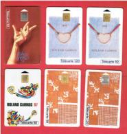 TENNIS ROLAND GARROS 1994 1995 1996 1997 LOT 5 TELECARTES DIFFERENTES - Kleding, Souvenirs & Andere