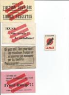 5 Vignettes Jeunesses Socialistes 1937 - Documents Historiques