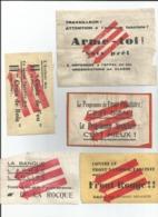 5 Vignettes Jeunesses Socialistes  Anti Croix De Feu - Anti Fascistes 1937 - Documents Historiques