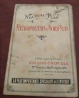 PARIS - PLAN DU MÉTROPOLITAIN - 1910/20 Offert Par 100.000 Chemises - Publicités