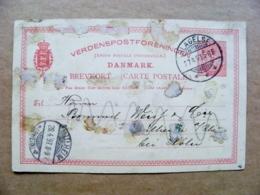 Postal Stationery Card Denmark 1897 Lagelse - 1864-04 (Christian IX)