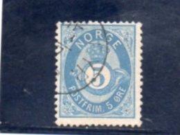 NORVEGE 1877-8 O - Usati