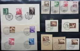 DEUTCHES REICH 1938/1944, über 100 Marken Auf Briefstücken Mit Sonderstempel. Dabei Komplette Sätze - Non Classés