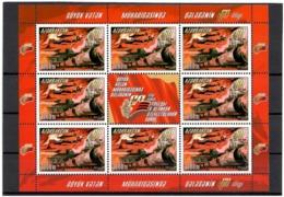 Azerbaijan 2005 . Victory Day - 60. Sheetlet Of 8 + Label.  Michel # 606 KB - Azerbaïjan