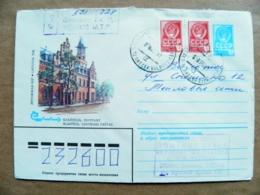 Postal Stationery Cover Ussr Lithuania Soviet Occupation Period 1982 Registered Vilnius Klaipeda Post Building - Lituania