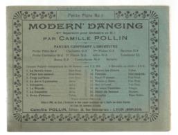 Partition Musicale Ancienne , MODERN' DANCING ,Camille POLLIN , Petite Flûte Ré B , Frais Fr 2.50 E - Partituren