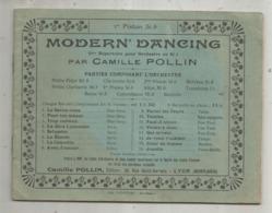 Partition Musicale Ancienne , MODERN' DANCING ,Camille POLLIN , 1 Er Piston Si B , Frais Fr 2.50 E - Partituren