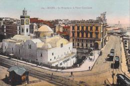 Afrique-Algérie- ALGER La Mosquée Et Le Palais Consulaire (tram Tramway) (Editions :JANSOL Alger 134 *PRIX FIXE - Alger