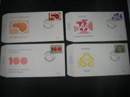 "BELG.1995 2585 2586 2587 & 2588 FDC's (Brus/Brux) : "" Herdenkingen / Commémorations Diverses "" - 1991-00"