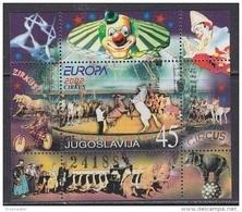 Europa Cept 2002 Yugoslavia M/s ** Mnh Circus (44588) Promotion - 2002