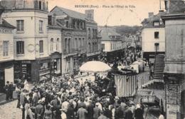 BRIONNE - Le Marché - Place De L'Hôtel De Ville - Autres Communes