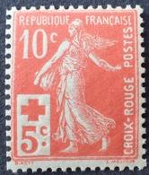R1189/35 - 1914 - TYPE SEMEUSE - CROIX ROUGE - N°147a Rouge-orange NEUF** - France