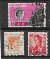 B9 - HONG KONG 154 - 191 - 201 - Oblitérés De 1938 1962  - Georges VI - Elizabeth II - Hong Kong (...-1997)
