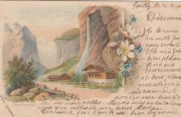 Staubachfall - Carte Précurseur Oblitérée Pailly Le 15.XII 1900, à Destination D' Yverdon - TTB - BE Berne