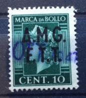 MARCA DA BOLLO  TRIESTE AMG FTT    TASSA FISSA  1947  CENT. 10 - 7. Triest