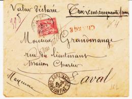 Algérie, De Constantine En 1893, Sage à 50 C Chargé Pour Laval  TB - Poststempel (Briefe)