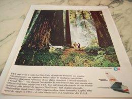 ANCIENNE PUBLICITE ETATS  UNIS ET TWA USA 1966 - Advertisements
