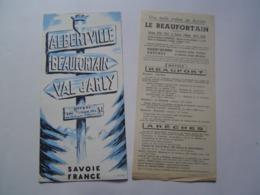 DEPLIANT TOURISME : ALBERTVILLE / BEAUFORTAIN / VAL D' ARLY / SAVOIE 1957 - Reiseprospekte