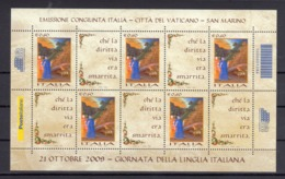 Italia - 2009  Giornata Della Lingua Italiana - - 6. 1946-.. Repubblica