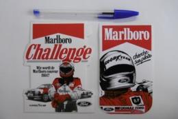 "Autocollant Sport Automobile TEAM MARLBORO ""CHERCHE PILOTE"" Avec Les Véhicules FORD - Lot De 2 - Stickers"