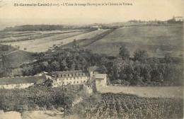 - Loire -ref-B65- Saint Germain Laval - St Germain Laval - Usine De Tissage Peuvergne Et Chateau De Virieux - Industrie - Saint Germain Laval