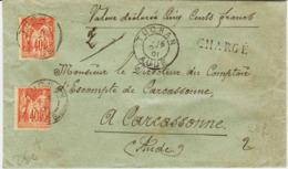 France, De TUHAN ( Aude ) En 1901, Chargé  Sage 80c    TB - Marcophilie (Lettres)