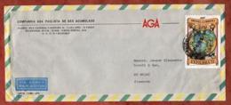 Luftpost, Briefmarkenausstellung Exfilbra, Sao Paulo Nach Mainz 1973 (80078) - Brazilië