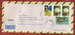 Luftpost, Einschreiben Reco, Skulptur U.a., Sao Paulo Nach Mainz 1977 (80079) - Brazilië