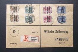Belgien/Deutsches Reich: 1914 Rgt. Cover To Hamburg (#RT2) - [OC38/54] Occupazione Belga In Germania