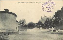 - Loire -ref-B60- Saint Paul De Vezelin Près Roanne - St Paul De Vezelin - Chateau - Chateaux - Cachet - Marcophilie - - Saint Germain Laval