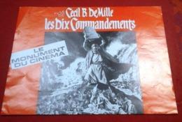 Dossier De Presse Les Dix Commandements Cecil B DeMille Charlton Heston Yul Brinner Edward G Robinson Anne Baxter - Werbetrailer