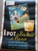 Belle Affiche Publicité Pour Le Bon Miel De France Apiculture ( Trace De Plis)  ///  REF  SEPT. 19  /// N° 9666 - Advertising