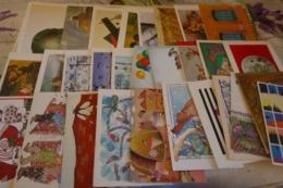 LOT DE 28 CARTES DOUBLES ...ART..TABLEAUX ...ILLUSTRATIONS...AU PROFIT DE L'UNICEF - Postcards