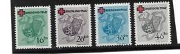 42-45A, Rheinland Pfalz, Rotes Kreuz 1949 **  MNH - Französische Zone