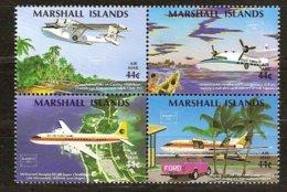Marshall Islands 1986 Yvertn° PA LP 3-6 *** MNH Cote 6 € Avions Vliegtuigen Airplandes - Marshall