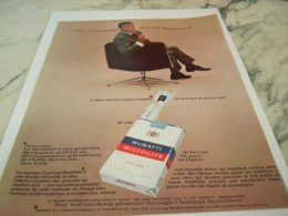 ANCIENNE PUBLICITE LA NOUVELLE CIGARETTES MURATTI 1966 - Tabac (objets Liés)
