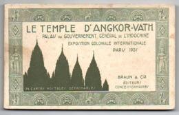 75 - Paris / Carnet Complet 24 Cartes, Temple D' ANGKOR-VATH, Indochine, Exposition Coloniale Internationale PARIS 1931. - Exposiciones