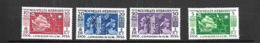 Nouvelles - Hébrides   1956     CAT YT    N° 167 à 170      N** MNH - Leyenda Francesa