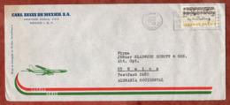 Luftpost, Beethoven, Mexico Nach Mainz 1970 (80089) - Mexique