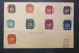 Deutsche Flugpost: 1922 9 Stamps On Paper (#RT6) - Germany