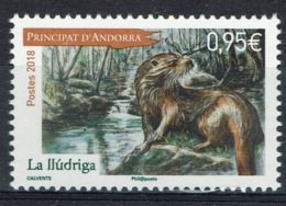 Andorra (French Adm.), Eurasian Otter (Lutra Lutra), 2018, MNH VF  820 - Französisch Andorra