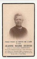 Décès Doodsprentje Jeanne Marie DUBOIS épouse Berrewaerts Paris 1869 Turnhout 1925 Médaille Civique 1è Classe 14/18 - Andachtsbilder