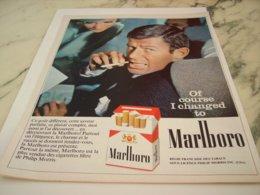 ANCIENNE PUBLICITE   CIGARETTE MOI JE FUME MARLBORO  1966 - Raucherutensilien (ausser Tabak)