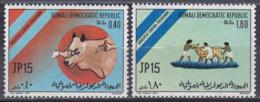 Somalia 1971 Wirtschaft Economy Viehzucht Husbandry Farming Rinder Cattle Rinderpest Medizin Medicine, Mi. 185-6 ** - Somalia (1960-...)