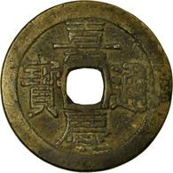 Monnaie, Chine, Ren Zong, Cash, 1796-1820, Guangzhou, TB+, Cuivre - China