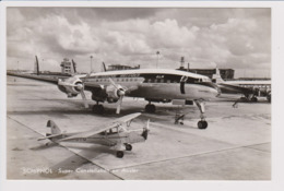 Vintage Pc KLM K.L.M Royal Dutch Airlines Lockheed Constellation L-1049 @ Schiphol Amsterdam Airport Version B - 1919-1938: Between Wars